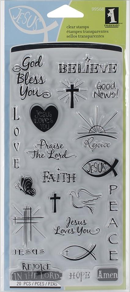 Inkadinkado Good News Religious Faith Stamp Set Cardmaking /& Bible Journal 99568
