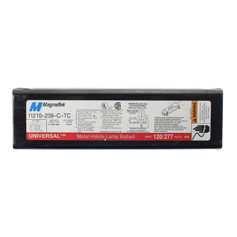 Universal Lighting Technologies 11210-239C-TC-000C (1) 100 Watt Metal Halide Lamp F-Can HID Ballast 120/277 Volt 11210-239-C-TC