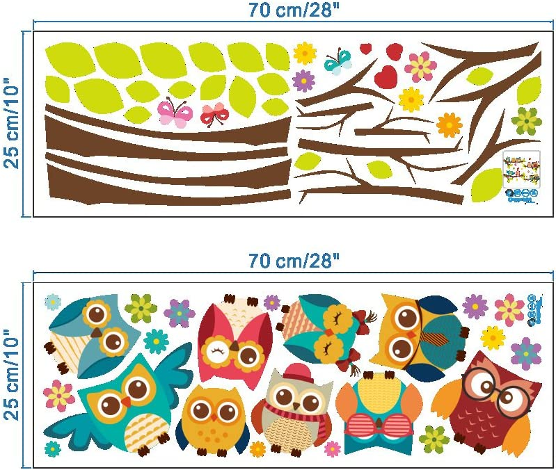 Elecmotive Wall Stickers Of Tree Owls Birds Wall Decals For Kids Rooms Nursery Baby Boys Girls Bedroom Amazon Ca Home Kitchen