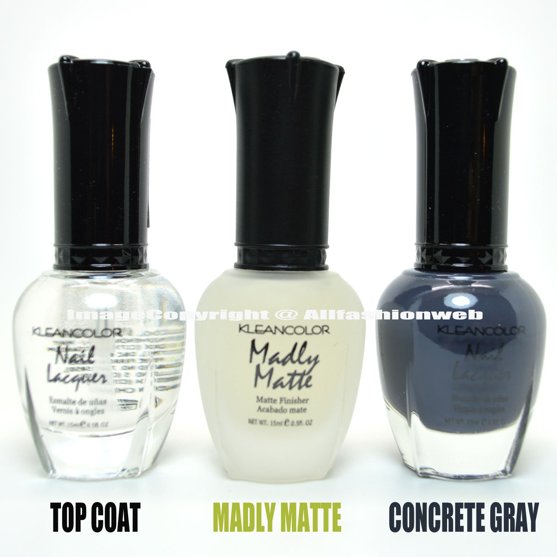 Amazon.com : 3 Kleancolor Nail Polish Top Coat, Madly Matte ...