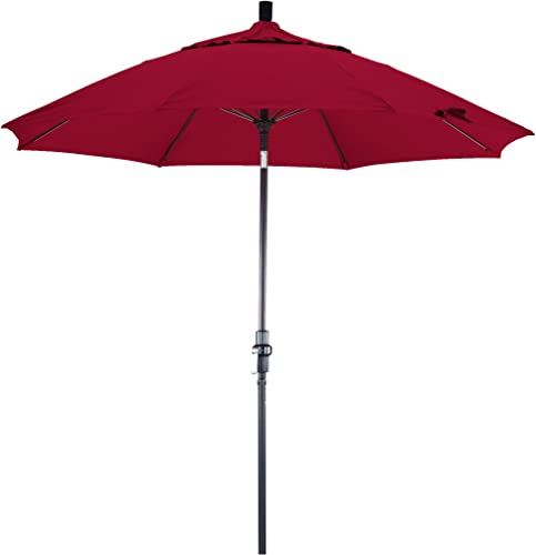 Phat Tommy 11 Ft Aluminum Outdoor Patio Market Umbrella Outdoor Living Shade, Red