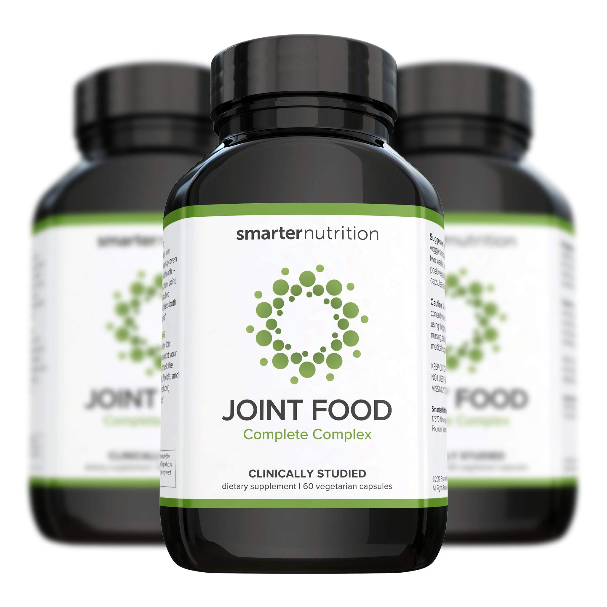 Smarter Joint Food - Joint Nourishment Provides Healing Support & Maintains Healthy Joints - Formulated with Whole Collagen, MSM, Vitamin C, Turmeric, Bromelain, CMO, Lipase (180 Count - 3 Month) by SMARTERNUTRITION