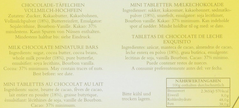 Amazon.com : Feodora Chocolade-Täfelchen Kunst Klassiker Vollmilch-Hochfein-Chocolade, 1er Pack (1 x 300 g) : Grocery & Gourmet Food