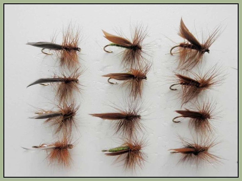 "high-quality fly fishing flies Four  /""Hopper/"" cdc /& foam"