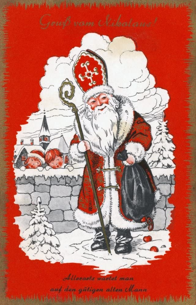 24 x 36 Austrian Christmas Card Nlate 19Th Century Poster Print by
