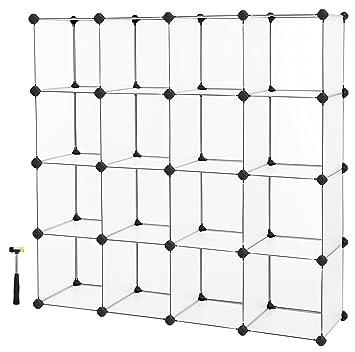 Amazon.com: SONGMICS Organizador de almacenamiento en cubos ...