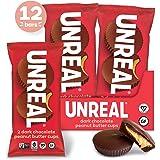 UNREAL Dark Chocolate Peanut Butter Cups| 5g Sugar | Certified Vegan, Gluten Free, Fair Trade, Non-GMO | No Sugar Alcohols or