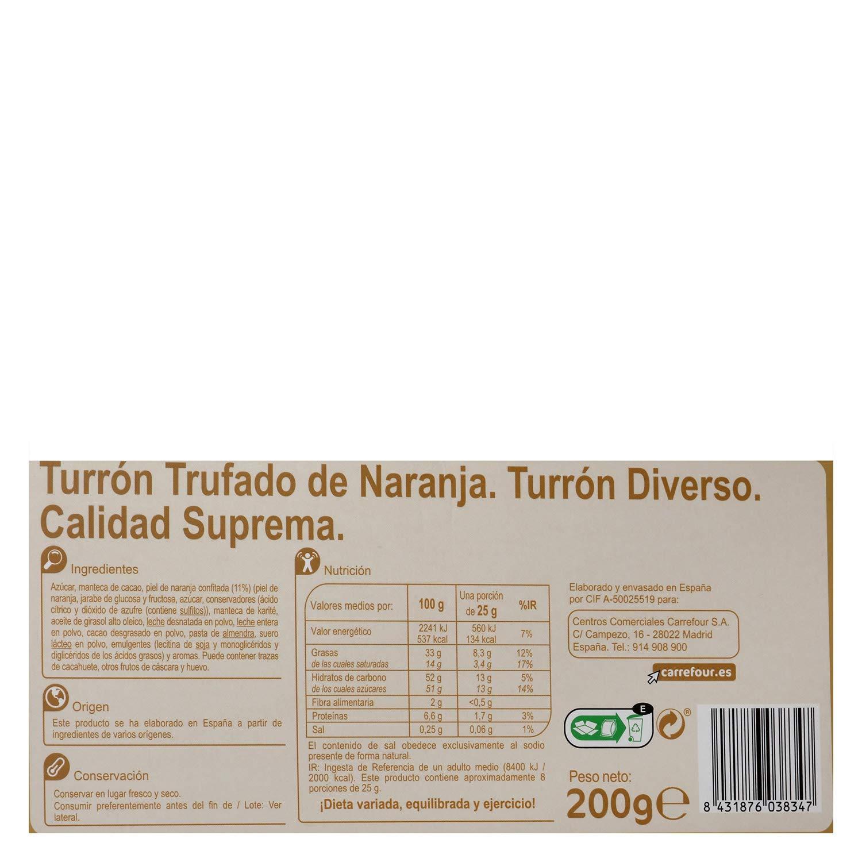 Carrefour Truffled Orange Spanish Nougat - 6 Pack - Made in ...