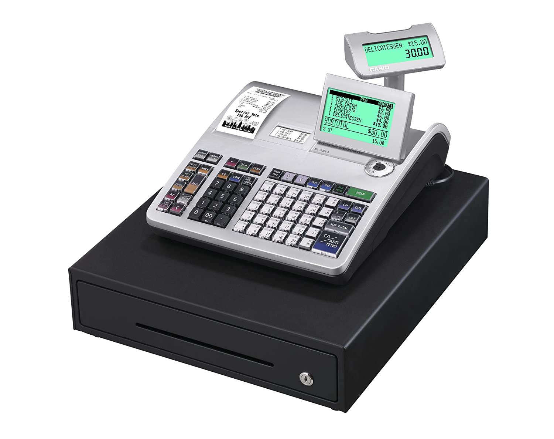 Casio SE-S3000MB-SR GDPdU Thermo-Cash Register Silver//Black 10/Lines