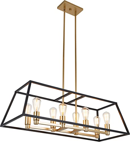 Artika CAR36-ON Chandelier, Gold and Black