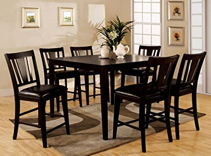 Awesome Bridgette 7 Piece Counter Height Dining Set