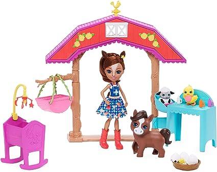 """Enchatimals 6/"""" Dolls /& Large Animal Figures Story Set"""