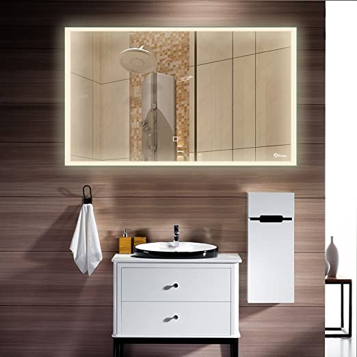 Anten Watts LED Illuminated Bathroom Mirror With Touch Switch - What is the best wattage for bathroom lighting