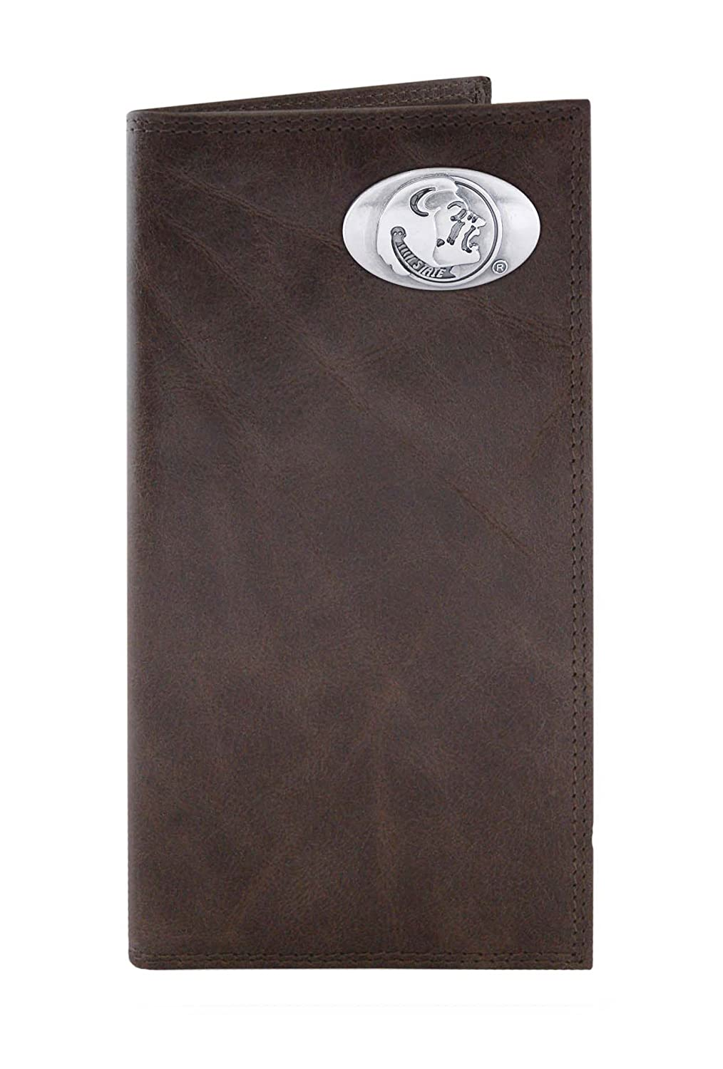 NCAA Florida State Seminoles Brown Wrinkle Leather Roper Concho Wallet One Size
