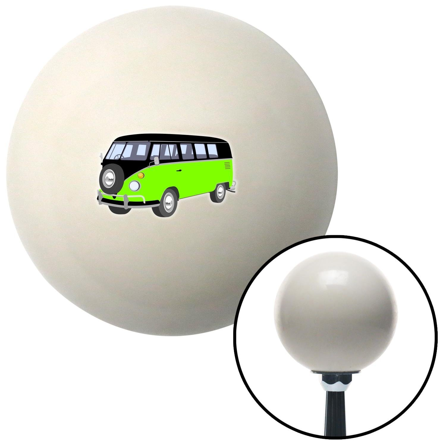 American Shifter 77354 Ivory Shift Knob with M16 x 1.5 Insert Green//Black Camper