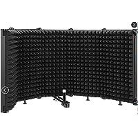 Pantalla de micrófono plegable que absorbe el sonido, panel de grabación vocal, aislamiento acústico portátil, escudo de…