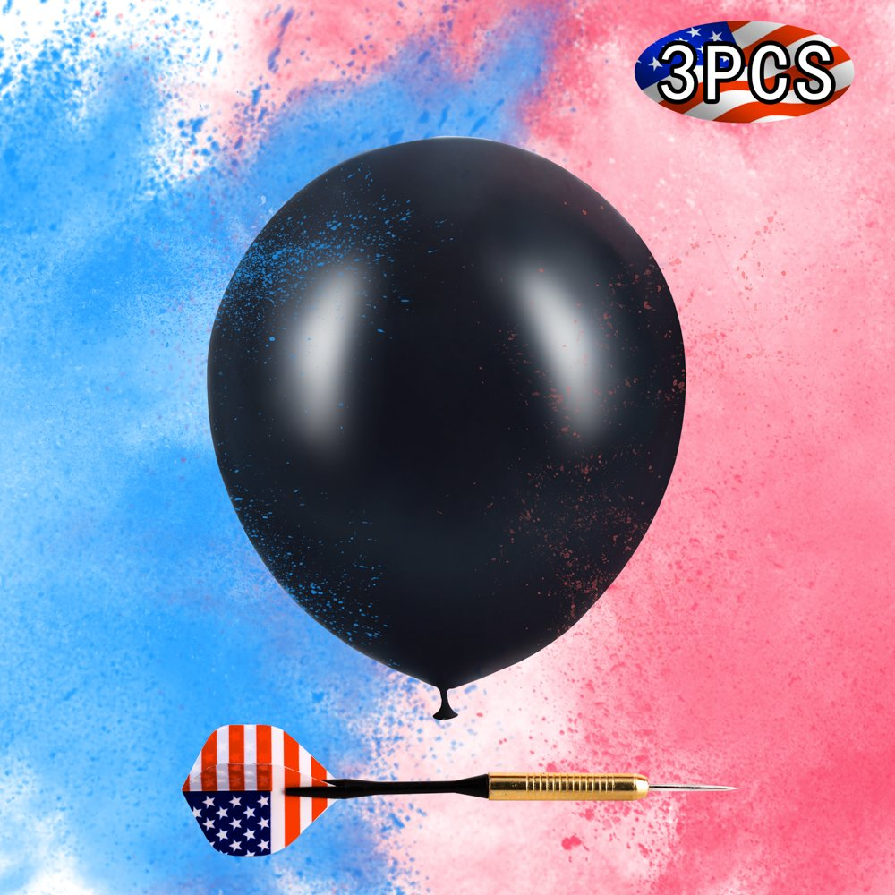 IGROWS 36'' Baby Gender Reveal Party Balloons King-Size Come with Pink and Blue Powder and an America Flag Dart for Baby Shower