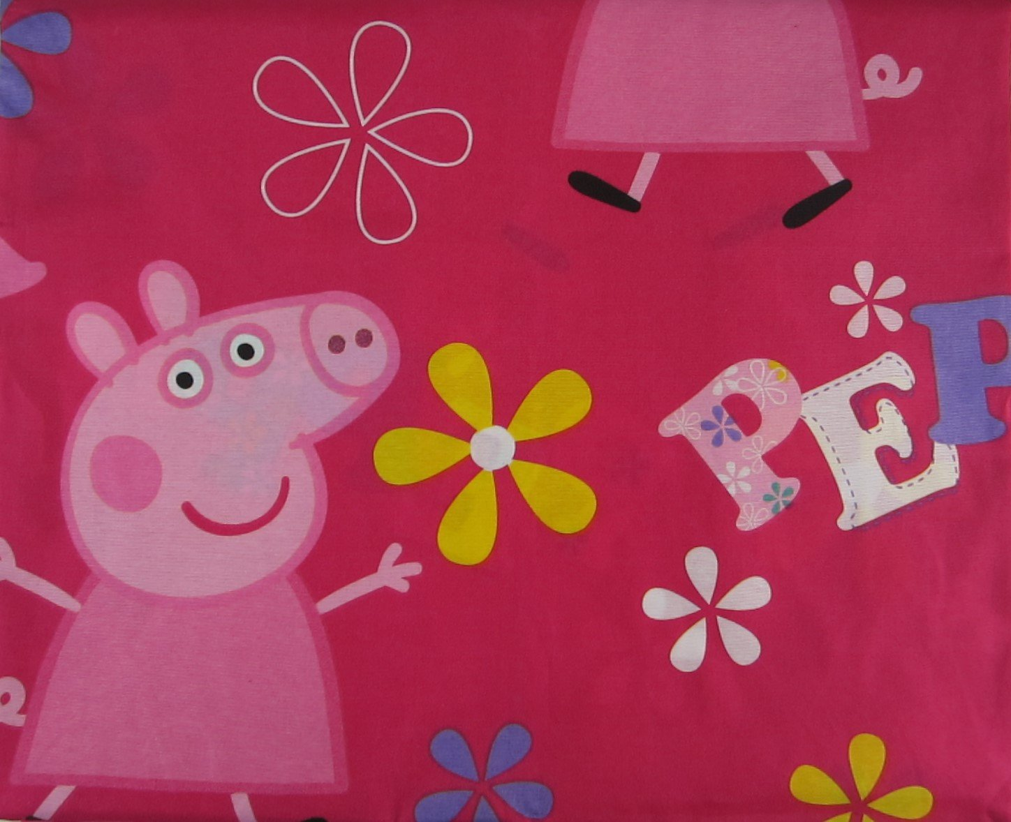 Peppa Pig 100% Polyester (FLAT SHEET ONLY) Size Full Girls Kids Bedding