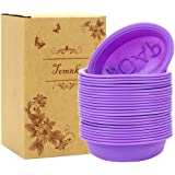Tomnk 25Pcs Soap Molds Silicone Handmade Soap Mold Baking Mold Cupcake Liners 50 Packing Bags as a Gift