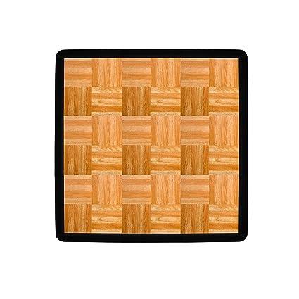 12 Interlocking Modular Grid Loc Tap Dance Tiles Oak 9 Piece