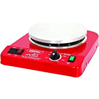 Cookwell Small Portable Light Weight Electric Hot Plate Low Power Consumption 200-900 watts, Temperature 50 to 350 Degree C with Automatic Thermostat (Red)