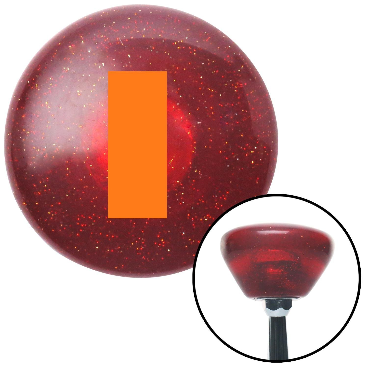 American Shifter 195196 Red Retro Metal Flake Shift Knob with M16 x 1.5 Insert Orange Officer 01-2n Lt. and 1d Lt.
