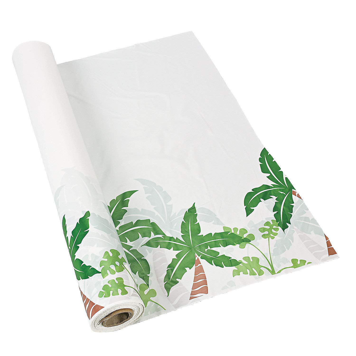 Fun Express - Palm Tree Tablecloth Roll - Party Supplies - Table Covers - Print Table Rolls - 1 Piece
