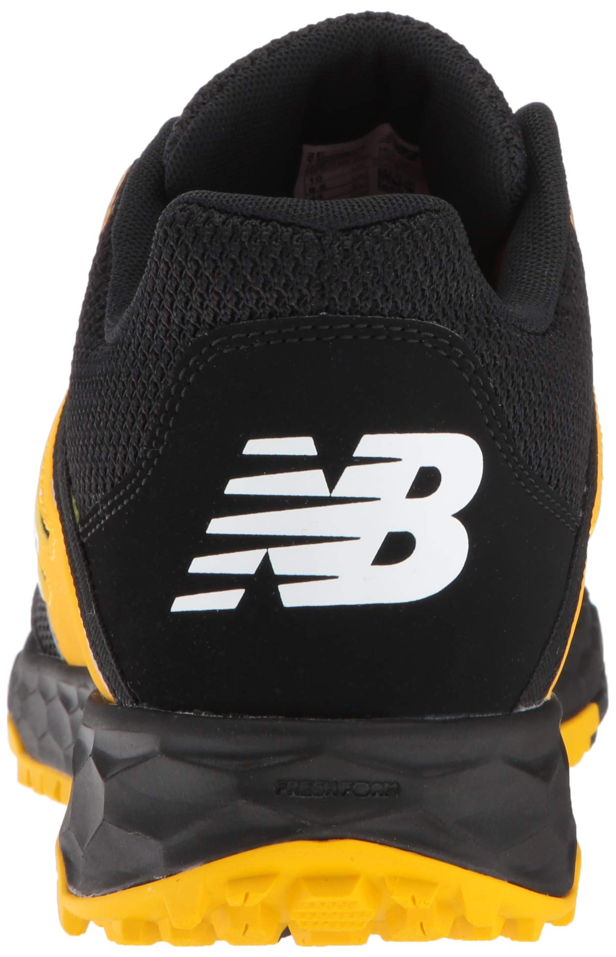 New Balance Men's 3000v4 Turf Baseball Shoe, Black/Yellow, 5 D US by New Balance (Image #2)