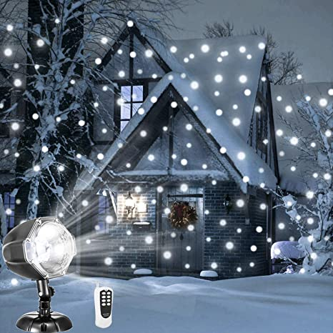snowfall led lights aolox christmas snowflake rotating projectors lights remote control waterproof outdoor landscape decorative