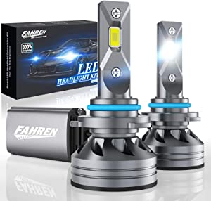 Fahren 9005/HB3/H10 LED Headlight Bulbs, 60W 10000 Lumens Super Bright LED Headlights Conversion Kit 6500K Cool White IP68 Waterproof