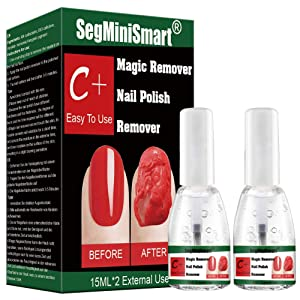 Magic Nail Polish Remover, Professional Soak-Off Gel Nail Polish Remover, Non-Irritating, Easily & Quickly Nail Polish Remover, Protect your nails