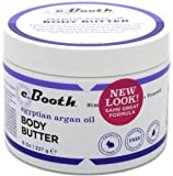 C.Booth Egyptian Argan Oil Body Butter 8 Ounce Jar (235ml) (3 Pack)