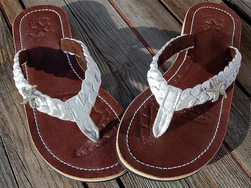 Seestern Sportswear SA1837/_FBA Sandalias Flip-Flop de Cuero Mujer
