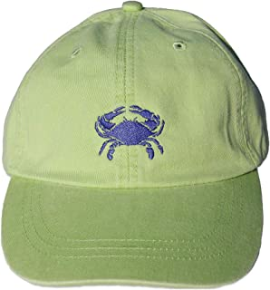 product image for Maine Made Belted Cow Crab Design Lime Baseball Hat for Men and Women