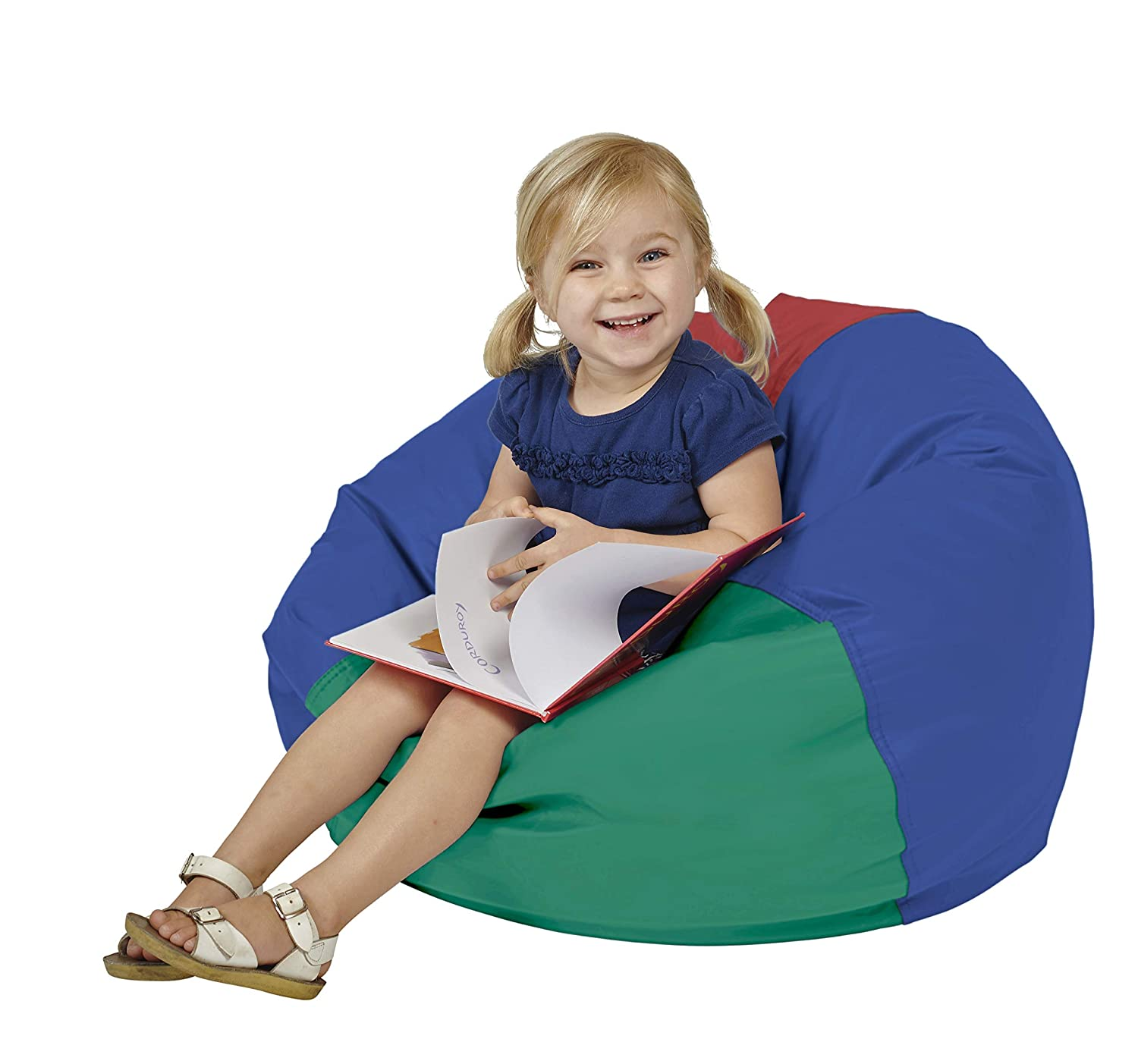 """FDP SoftScape Classic 26"""" Junior Bean Bag Chair, Furniture for Kids, Perfect for Reading, Playing Video Games or Relaxing, Alternative Seating for Classrooms, Daycares, Libraries or Home - Assorted"""