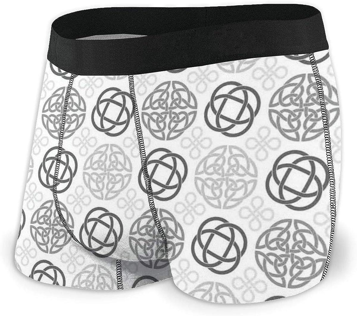 Digital Large Celtic Knots Pattern in Vintage Design Ethnic Irish Folk Casual Swim Trunks All