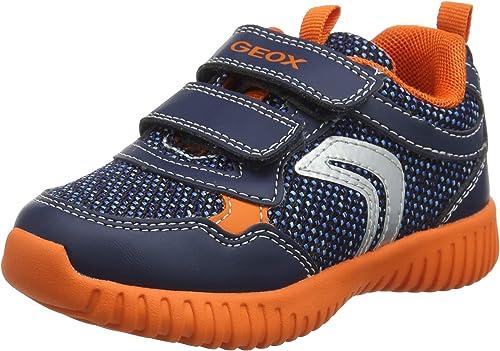 Tercero diámetro inventar  Geox Waviness Boy C0820, Zapatillas para Niños, Azul (Navy/Orange ...
