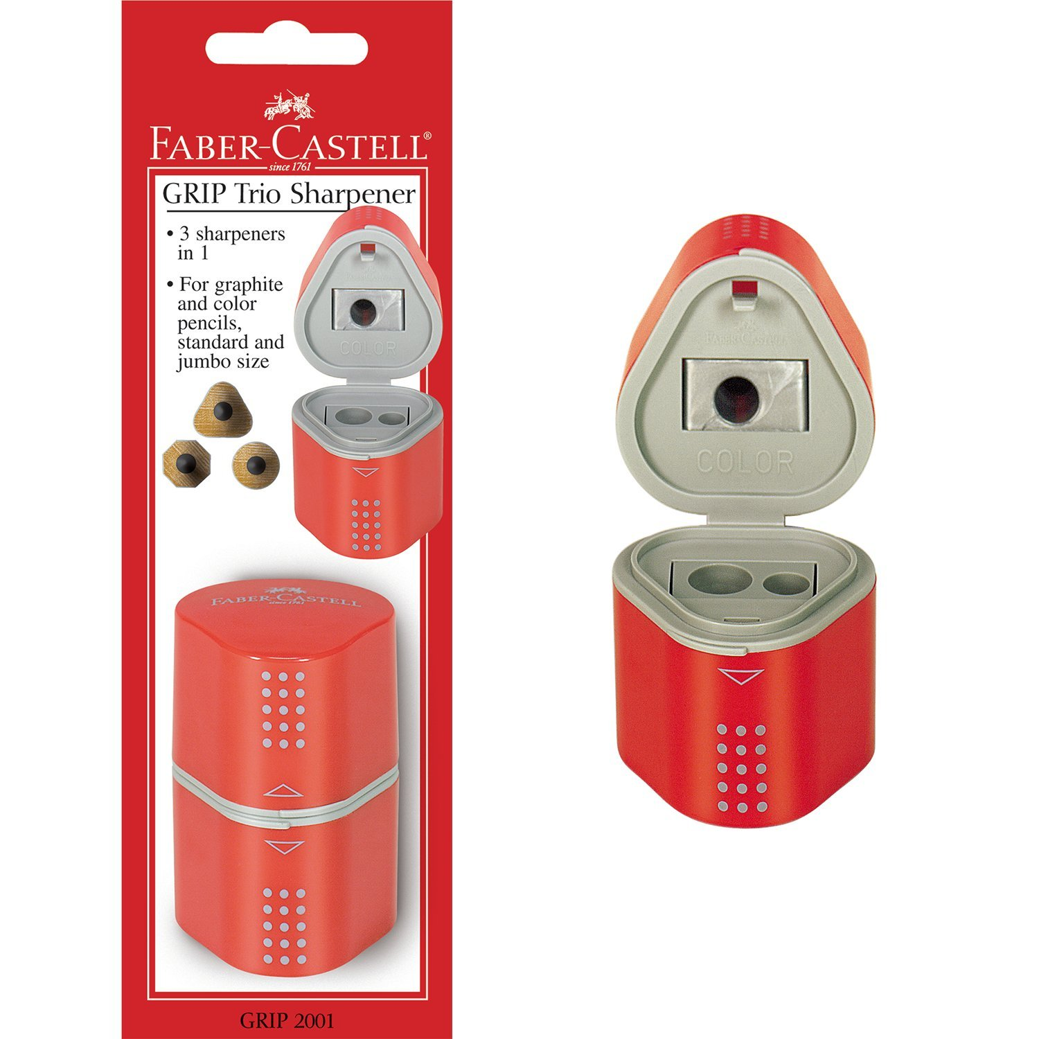 Faber-Castell GRIP Trio Pencil Sharpener 280175