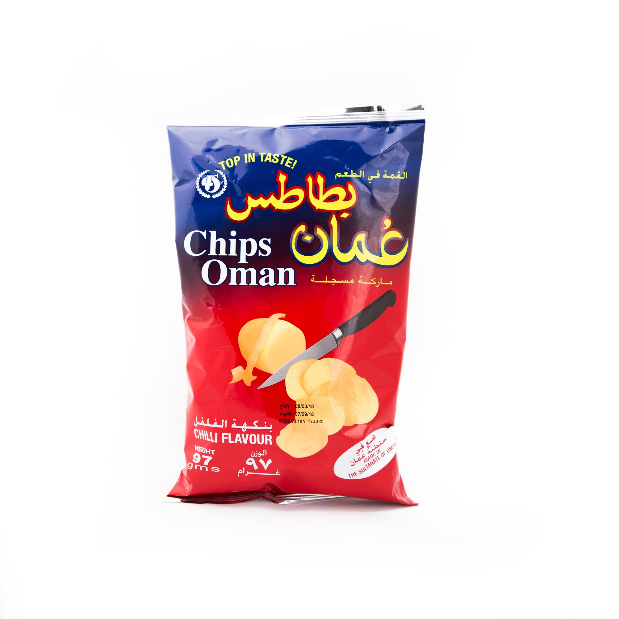 Chips Oman Chilli Flavour Large size ( 97 grams)
