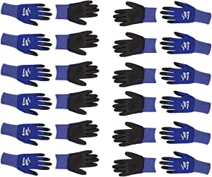 Memphis N9696S Ultra Tech Tactile Dexterity Work Gloves Blue/Black Small 1 Dozen