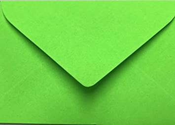 25 Briefumschläge Mini Geeignet Für Visitenkarten Neon Grün