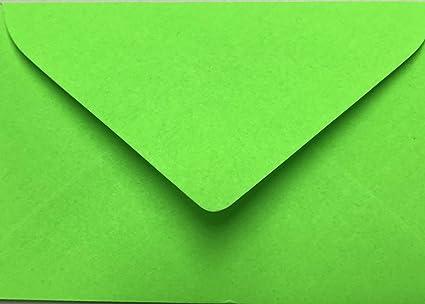 75 sobres Mini Adecuado para tarjetas de visita Neon Verde 6 ...