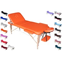 Polironeshop lit portable et pliable professionnel pour massages, soins esthétiques, physiothérapie, épilation, manucure et pédicure
