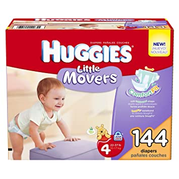 Huggies - Little Movers Diapers, Size 4 (22-37 lbs.),