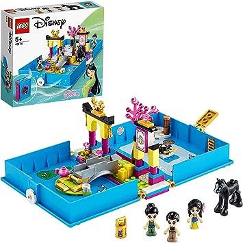 Set di Costruzioni per Bambini +5 Anni 43174 LEGO Disney Princess-Il Libro delle Fiabe Shang e 2 Versioni di Mulan Cavallo Khan Disney Princess e Un Elemento Lanterna con Decorazione CRI-Kee