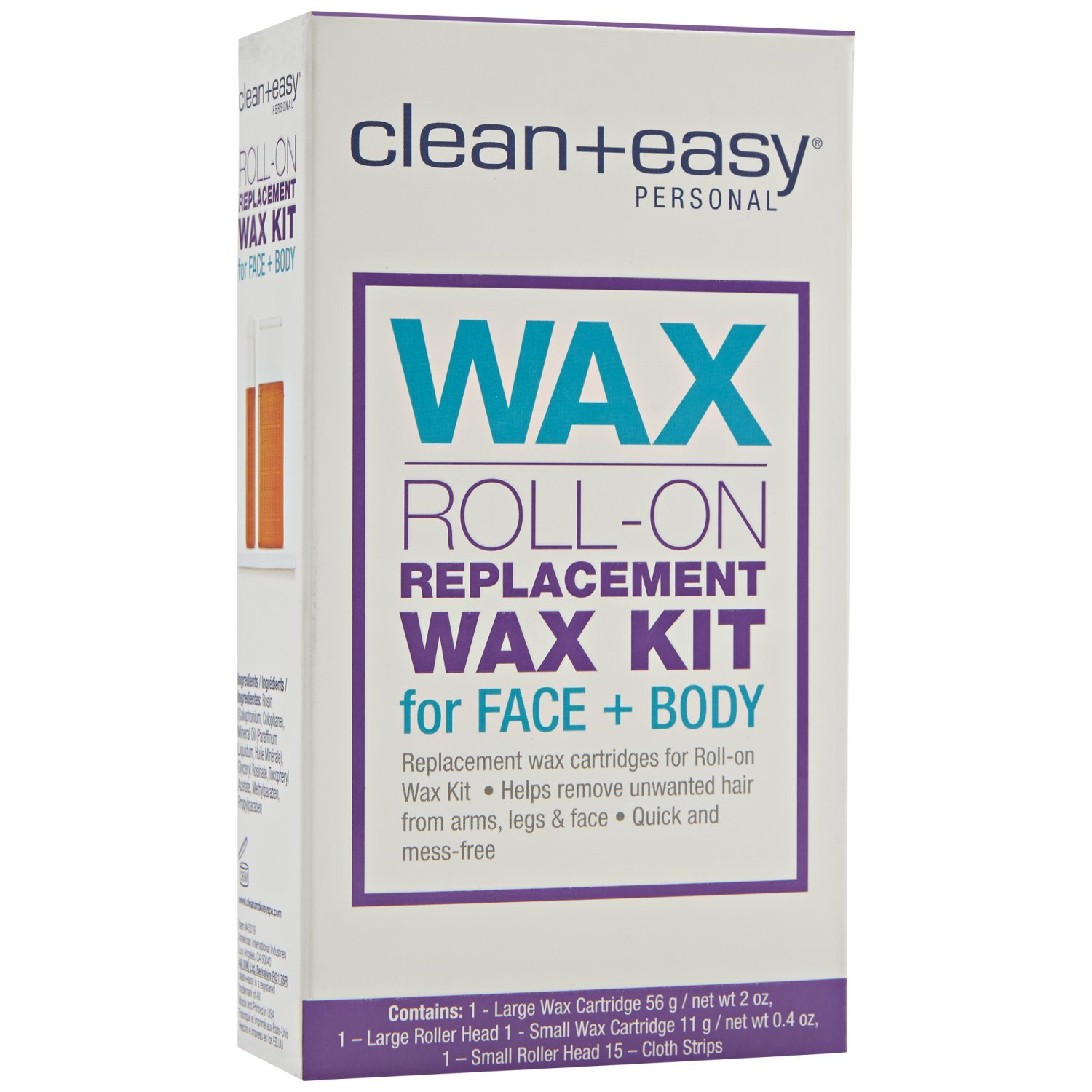 Clean + Easy Personal Roll On Waxer Refill, Large, 2 Ounce Clean Plus Easy B0012SAD9W