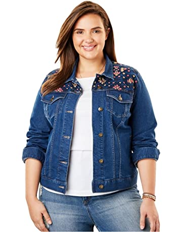 17f55d39037c2 Woman Within Women s Plus Size Stretch Denim Jacket