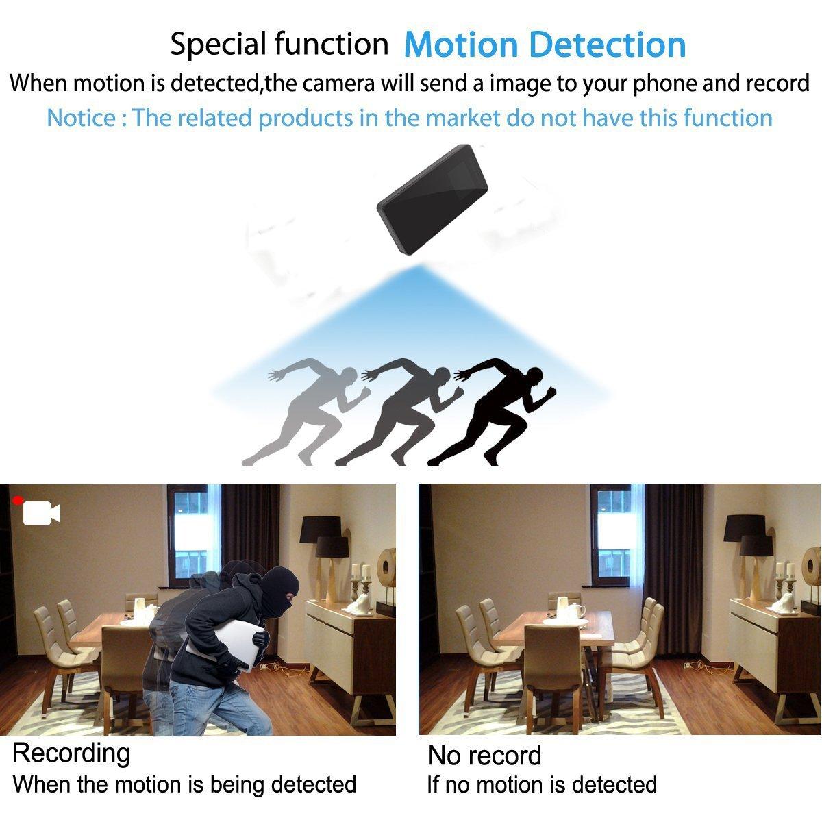 Full HD Mini DV 1080P Visión Nocturna Hidden Power Bank Cámara Espía 8200mAh con 2 pulgadas LCD Screem para Reproducción Detección de movimiento Niñera Sin ...