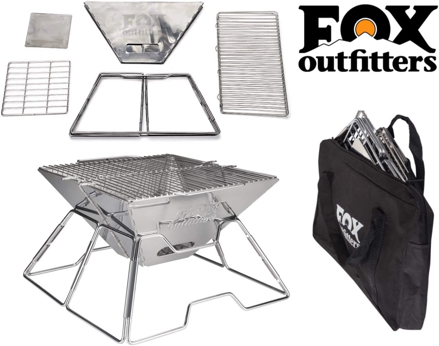Quick Grill Medium Original Folding Charcoal BBQ Grill Made from Stainless Steel