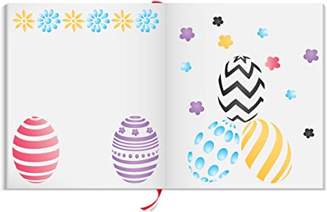 Amazon Com Easter Eggs Stencil Size 7 W X 7 H Reusable Wall
